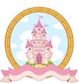 Princess castle design vector image