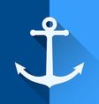 White anchor symbol vector image
