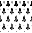 Christmas tree and snowflake seamless vector image
