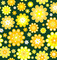 Yellow flowers background vector image vector image