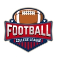 Football college league Emblem template with vector image