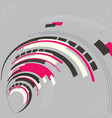 Abstract technology modern geometrical shape vector image