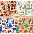 Collection of seamless patterns with London vector image