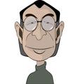 A mans in glasses portrait caricature vector image