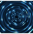 shining circle Round neon banner vector image