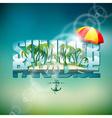 summer holiday with sunshade vector image