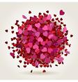 hearts explosion vector image