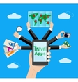 Navigation and travelling vector image