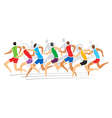 Runners race vector image