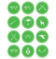 set of hunting club logo icon vector image