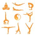 Yoga asanas icons vector image