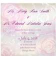 wedding invitation with roses vector image vector image