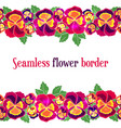 seamless floral border design for wedding vector image