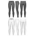 womens full length leggings vector image