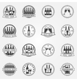 Wine and beer labels vector image