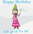 Happy birthday magic postcard vector image