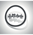 Casino sign sticker curved vector image