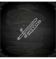 Hand Drawn Sword vector image