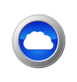 cloud computing button vector image