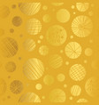 golden yellow decorative abstract cricles vector image