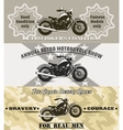 motorcycle banners vector image
