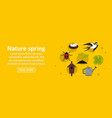 nature spring banner horizontal concept vector image