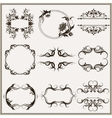 set of elegant calligraphic frames vector image