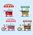 street food stall vector image