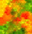 Triangle golden poppy half tone blurred vector image
