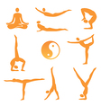 Yoga asanas icons vector image