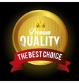 seal guaranteed premium quality gold vector image