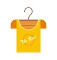 Orange T-shirt on Hanger vector image