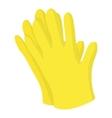 Garden gloves icon cartoon style vector image