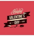Valentines Day Card Vintage Poster Background vector image