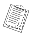 clipboard with sheet on it icon image vector image