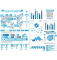 INFOGRAPHIC DEMOGRAPHICS 2 BLUE vector image vector image