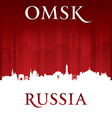 Omsk Russia city skyline silhouette vector image