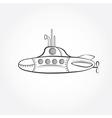 cartoon submarine design template vector image