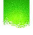 Green ornate background vector image