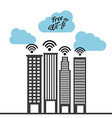 wifi service vector image
