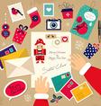 Santa writing messages vector image