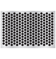 Silver abstract metal background with holes and vector image