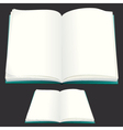 blank paper book for your text or design vector image