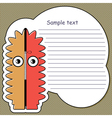 Cartoon monster with message cloud vector image