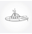cartoon submarine design template vector image