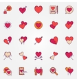 Colorful heart icons set vector image