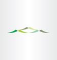 green mountains logotype design icon vector image