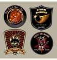Rock badges vector image