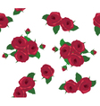 rose red seamless vector image