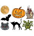 set for Halloween vector image